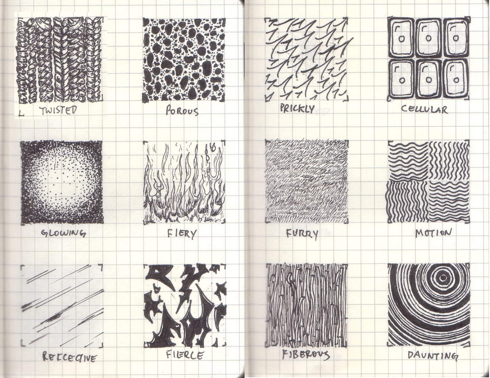 Tone And Texture In Art : Sketchbook arts drawing